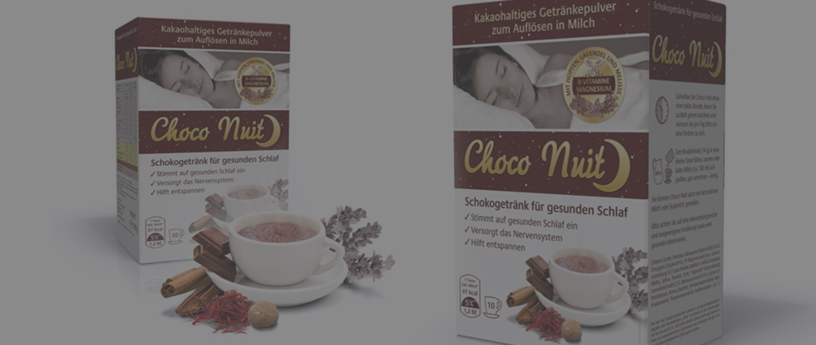 Packaging Design für Choco Nuit