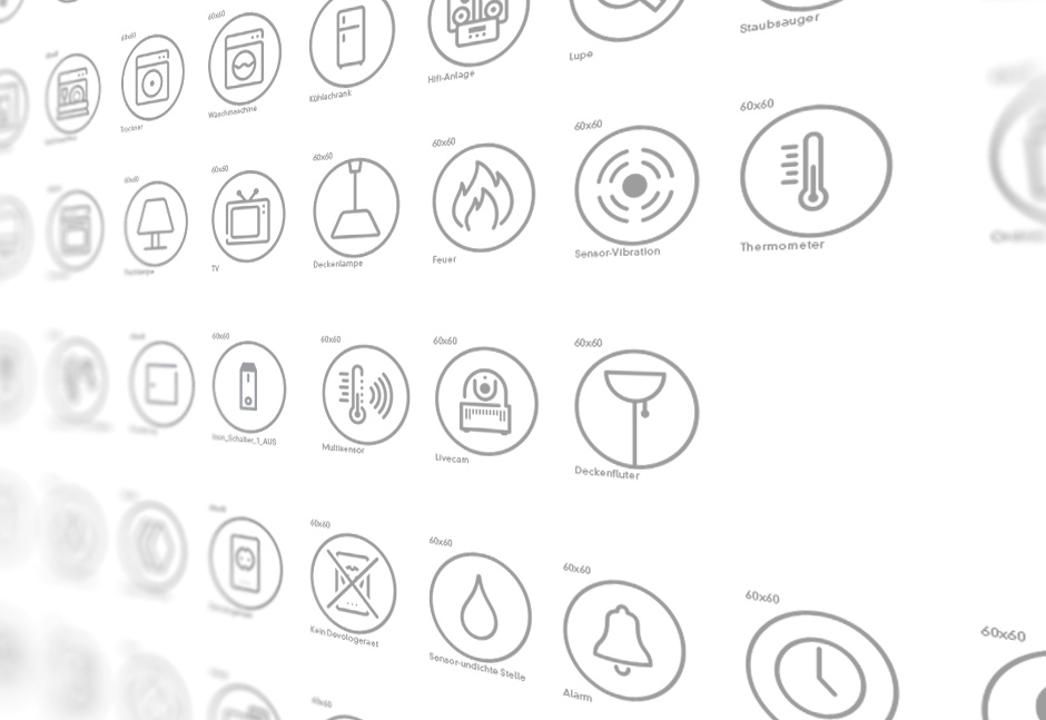 Smart Home App Design - Icons der Home Control App von devolo
