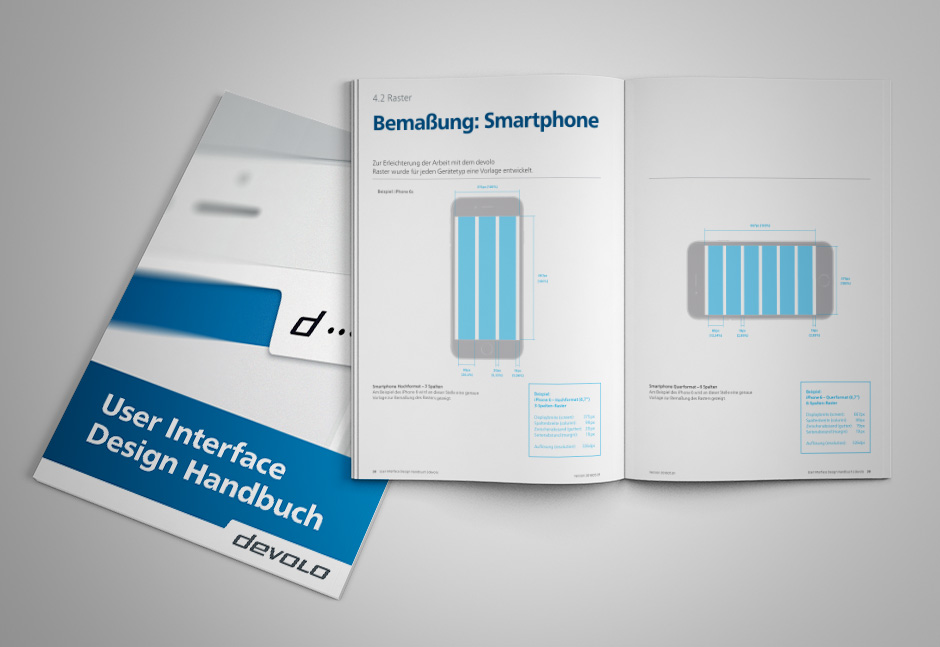 Smart Home App Design- User Interface Handbuch der devolo App