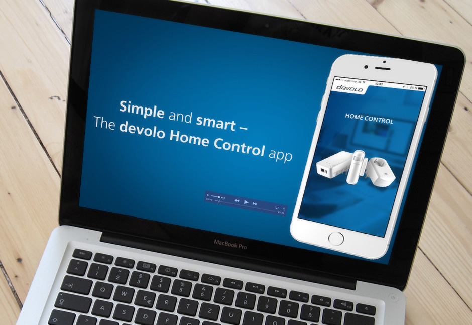 Smart Home App Design - App Version für den PC oder Mac der devolo Home Control App